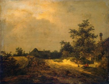 Jacob van Ruisdael, Peasant Cottages in Dunes 1647