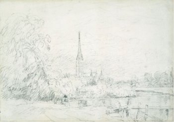 John Constable Salisbury Cathedral from the North West 1829