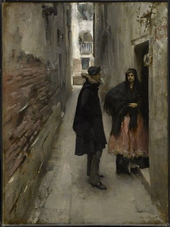 John Singer Sargent A Street in Venice 1880–2
