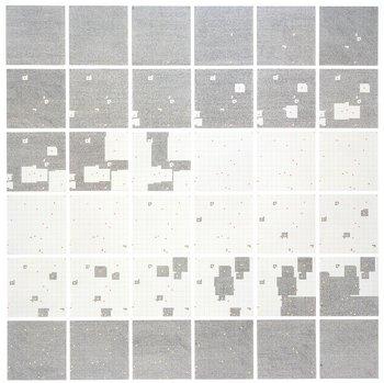 Jennifer Bartlett, Surface Substitution on 36 Plates 1972