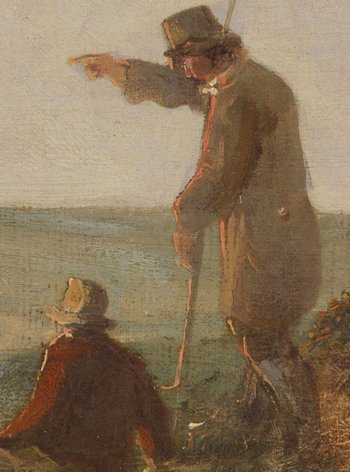Mousehold Heath, detail showing standing and seated figures