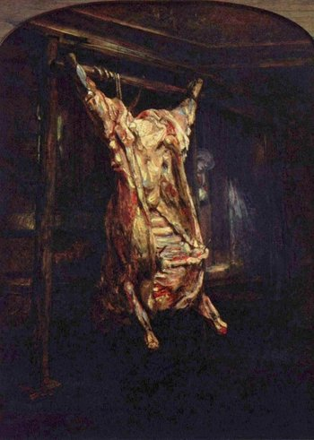 Rembrandt van Rijn The Slaughtered Ox 1655