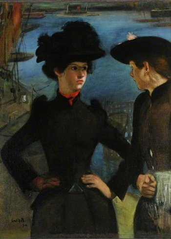 William Rothenstein Coster Girls 1894