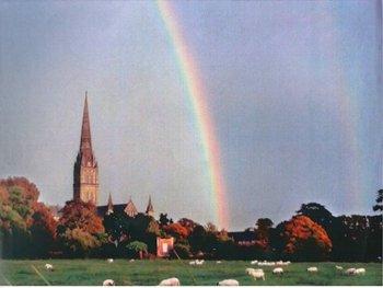 Tim Tatton-Brown, Rainbow photograph taken from the Harnham Meadows, 29 September 2010