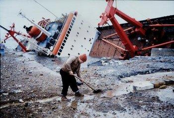 Allan Sekula, Shipwreck and Worker, Istanbul, from TITANIC's Wake 1999/2000