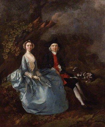 Thomas Gainsborough, Sarah Kirby (née Bull); (John) Joshua Kirby c.1751–2