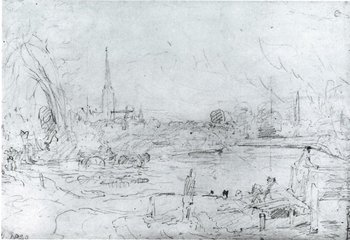 John Constable Salisbury Cathedral from Long Bridge 1829