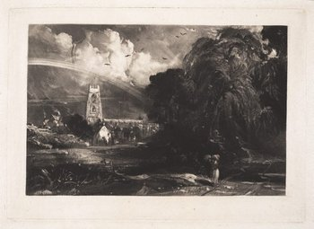 David Lucas after John Constable Stoke-by-Nayland, Suffolk 1829