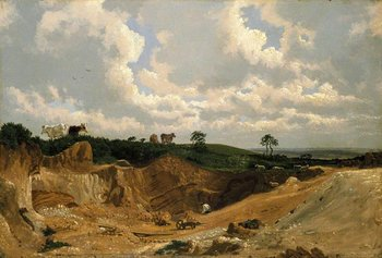 William Turner of Oxford, Gravel Pit on Shotover Hill, near Oxford c.1818