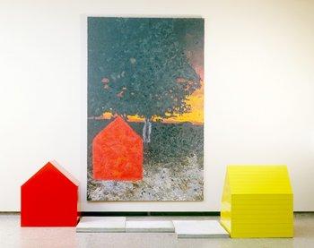 Jennifer Bartlett, Sunset and Concrete Dock 1984