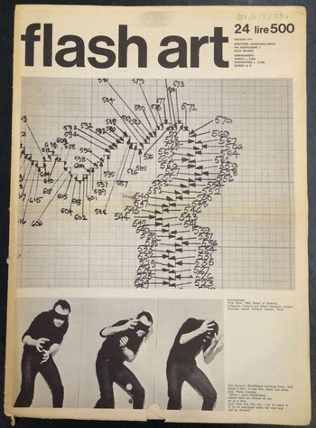 Cover of Flash Art, May 1971