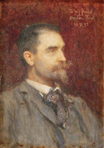 Hubert von Herkomer's painting of Edward Onslow Ford 1895