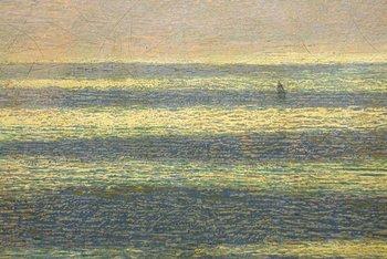 John Brett, The British Channel Seen from the Dorsetshire Cliffs 1871.