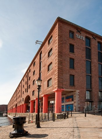 The Tate Liverpool gallery building, on the Albert Dock