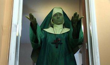 Jennet Thomas, All Suffering SOON TO END! 2010 Video still: green nun