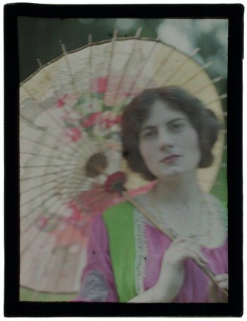 John Cimon Warburg The Japanese Parasol early colour photography plate