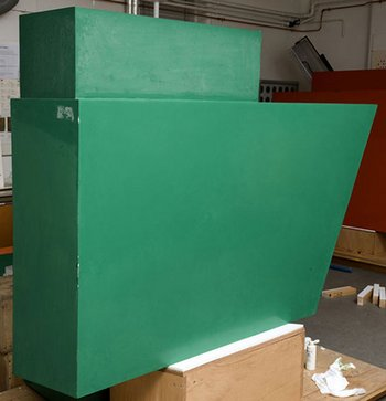 Green box element during cleaning. Philip King, Call