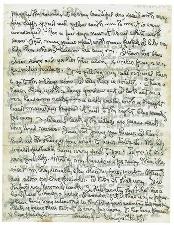 Letter from Georgia O'Keeffe to Yayoi Kusama, 4 December 1955