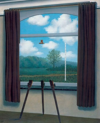 Magritte Idiotic Work The Human Condition - 1933