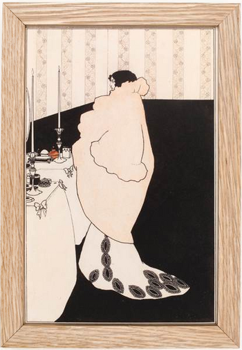 Aubrey Beardsley, La Dame Aux Camelias framed print