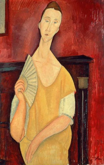 Lost Art: Theft of Five Paintings - Amedeo Modigliani, Woman with a Fan 1919