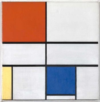 Piet Mondrian Composition C (No.III) with Red, Yellow and Blue