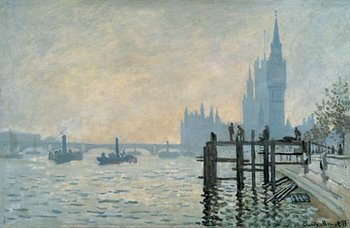 Claude Monet The Thames Below Westminster 1871