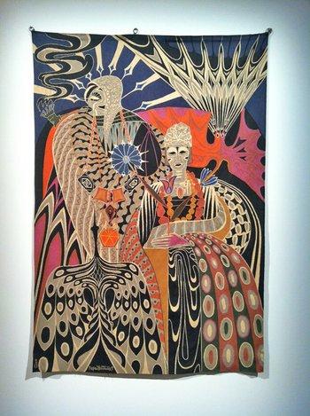 Tapestry by Seneglese artist Papa Ibra Tall (b1935)