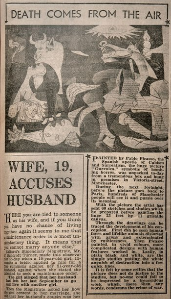 Press cutting from the Manchester Evening News, 31 January 1939