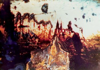 Film cell with images painted in by Salvador Dalí for Impressions of Upper Mongolia 1976 two