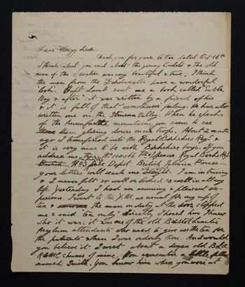 Letter from Stanley Spencer