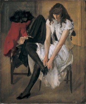 Philip Wilson Steer A Girl at her Toilet about 1892-3 Oil on canvas