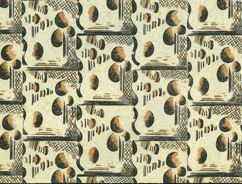Paul Nash design published in A Specimen Book of Pattern Papers Designed for and in Use at the Curwen Press, 1928