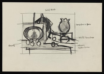Keith Vaughan Drawing of a still life 1951, Tate Archive