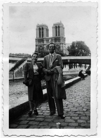 Wifredo Lam and his wife,Paris