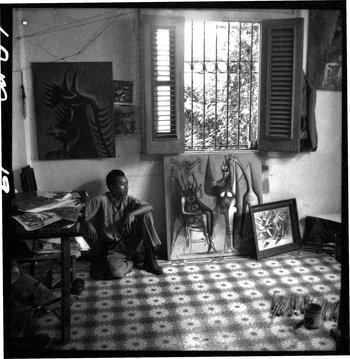1947 Wifredo Lam, atelier in Havana