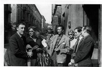 Roberto Crippa, Arnaldo Pomodoro, Lou Laurin-Lam, Wifredo Lam and Enrico Baj, Milan, 1957