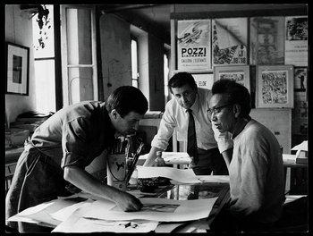 1967, Giancarlo Pozzi, Giorgio Upiglio et Wifredo Lam, Milan