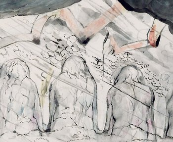 William Blake Detail The Primaeval Giants Sunk in the Soil