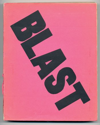 Wyndham Lewis Blast 1914 Cover of issue 1 of the journal manifesto