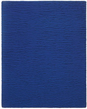 Yves Klein Untitled Monochrome Blue IKB 67 textured blue monochrome painting