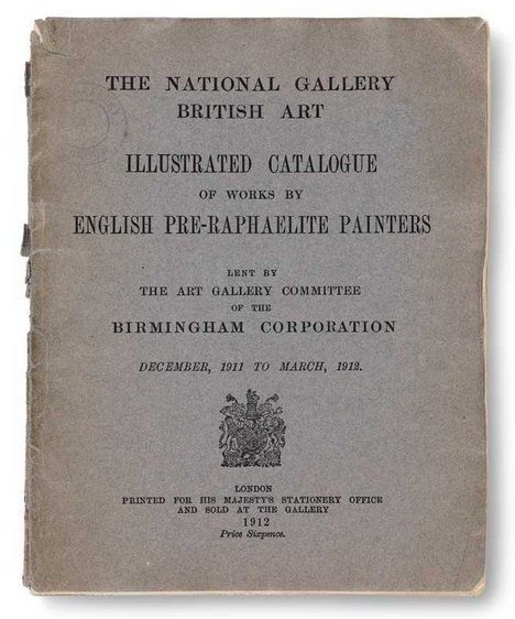 Illustrated Catalogue of Works by English Pre-Raphaelite Painters, 1912 exhibition catalogue from Tate Publishing
