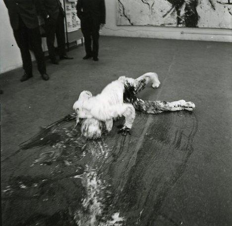 Günter Brus Self-Painting – Self-Mutilation 1965