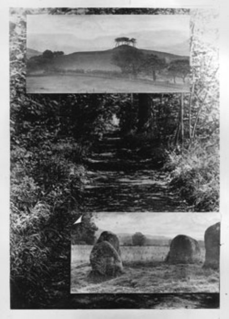 Alfred Watkins Collage of black and white photographs, published as frontispiece of Alfred Watkins, Early British Trackways, 1921