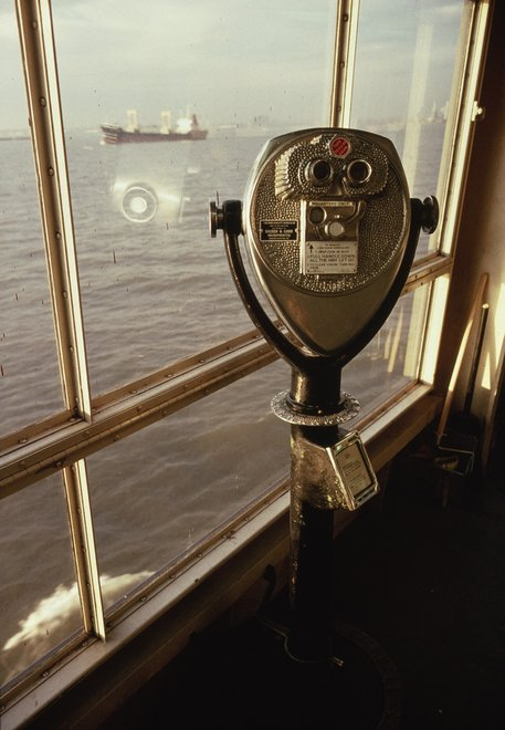Allan Sekula Boy Looking at His Mother. Staten Island Ferry. New York Harbor. February 1990, from Fish Story 1989–1995