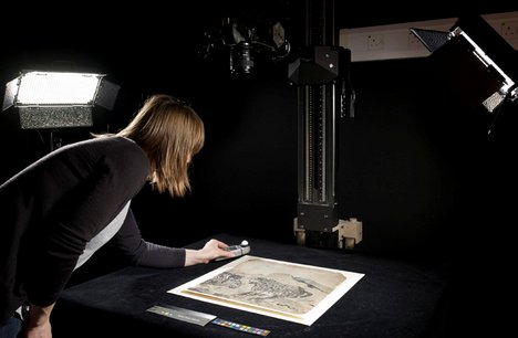 Archive digitisation in progress for Tate's Archives and Access project