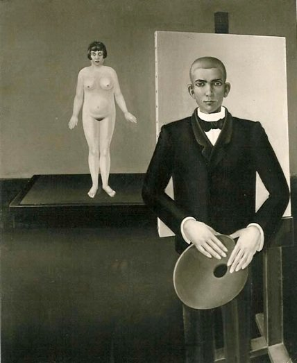 Anton Räderscheidt Painter and Model 1926 (missing or destroyed)