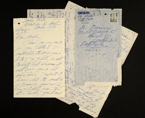 A pile of handwritten letters