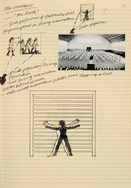 Ian Breakwell page from notebook, on display in Tate Archive Show and Tell event, June 2013