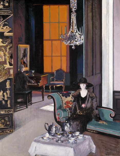 Francis Campbell Boileau Cadell Interior: The Orange Blind c.1927